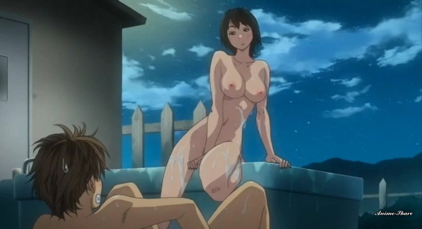 Sexy anime redhead gets fucked underwater in a swimming pool while talking to friends